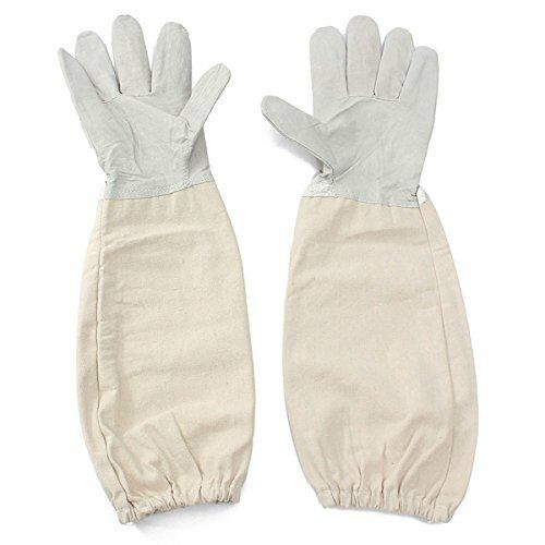Alles XXL Goat Leather Beekeeping Gloves with Vented Sleeves 1 Pair XX Large