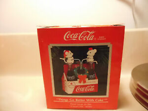 Enesco Coca-Cola Things go better with Coke 6 pack Christmas Ornament w/box 1991
