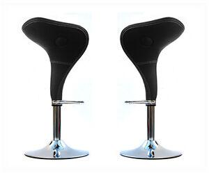 Coppia sgabelli poltrona ufficio ecopelle sedie sgabello nero