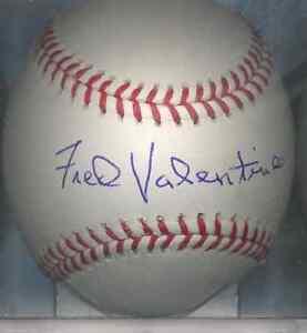 Image Is Loading Fred Valentine  Washington Senators OML Autographed Signed Baseball