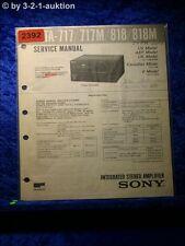 Sony Service Manual TA 717 / 717M / 818 / 818M Amplifier  (#2392)