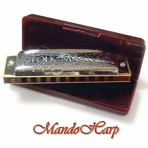 Suzuki-Harmonica-1072-Folkmaster-KEY-OF-C-NEW