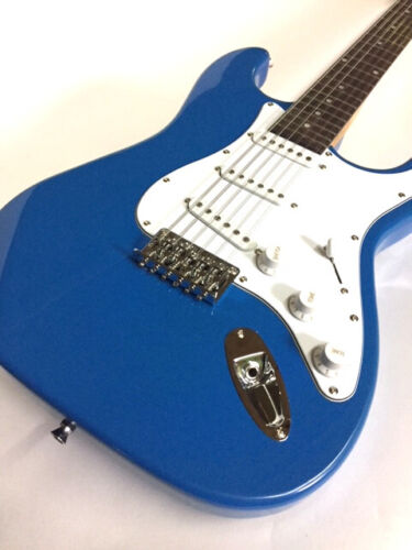 new lake placid blue 12 string strat style electric guitar smooth action ebay. Black Bedroom Furniture Sets. Home Design Ideas