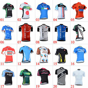 New-Road-Bike-Mens-Cycling-Short-Sleeve-Jerseys-Tops-T-shirt-Bicycle-Clothing