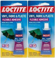 2 1oz Loctite Vinyl Fabric Plastic Flexible Clear Adhesive Leather Canvas Glue
