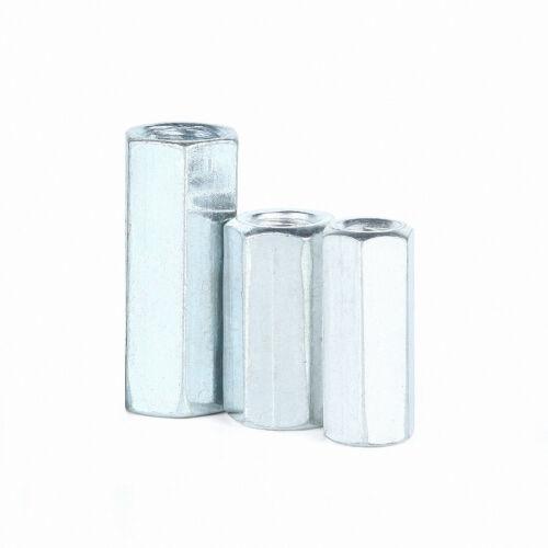 Langmuttern Stahl verzinkt DIN 6334 Gewindemuffen Sechskantmuttern M6//8//10~M20