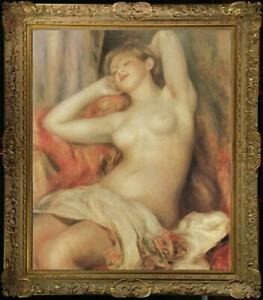 Old-Master-Art-Antique-Oil-Painting-Portrait-nude-girl-on-canvas-24-034-x36-034