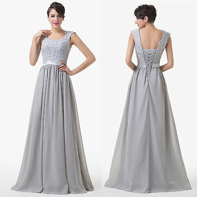 Vintage 50's Elegant Wedding Formal Party Evening Gown Long Prom Dress PLUS Size