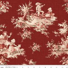 Toile de Jouy Cotton Quilt Fabric Children Riley Blake Red BFab