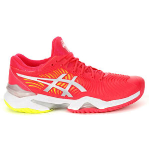ASICS Women's Court FF White/Laser Pink Tennis Shoes 1042A076.700 NEW
