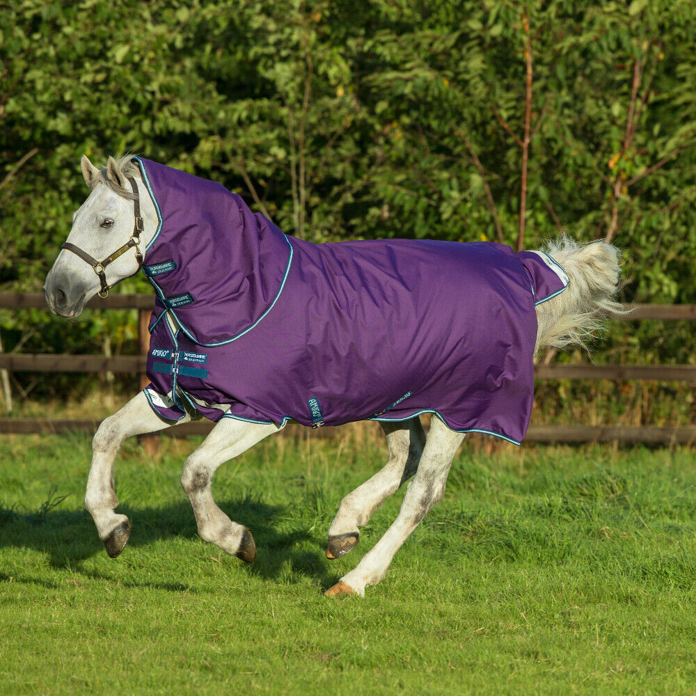 Horseware Amigo Bravo 12 Plus Turnout Lite 0g PONY - lila Navy