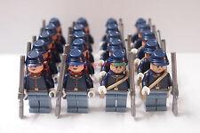 New Cowboy Minifigure 20 x America Civil War Army Soldier w Guns Custom Brand