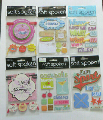 You Choose Soft Spoken Packaged Dimensional Stickers Misc FRIENDS /& WEDDING