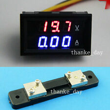 DC 300V 50A + Shunts Digital LED Voltmeter Amperemeter Panelmeter 12v/24v Auto