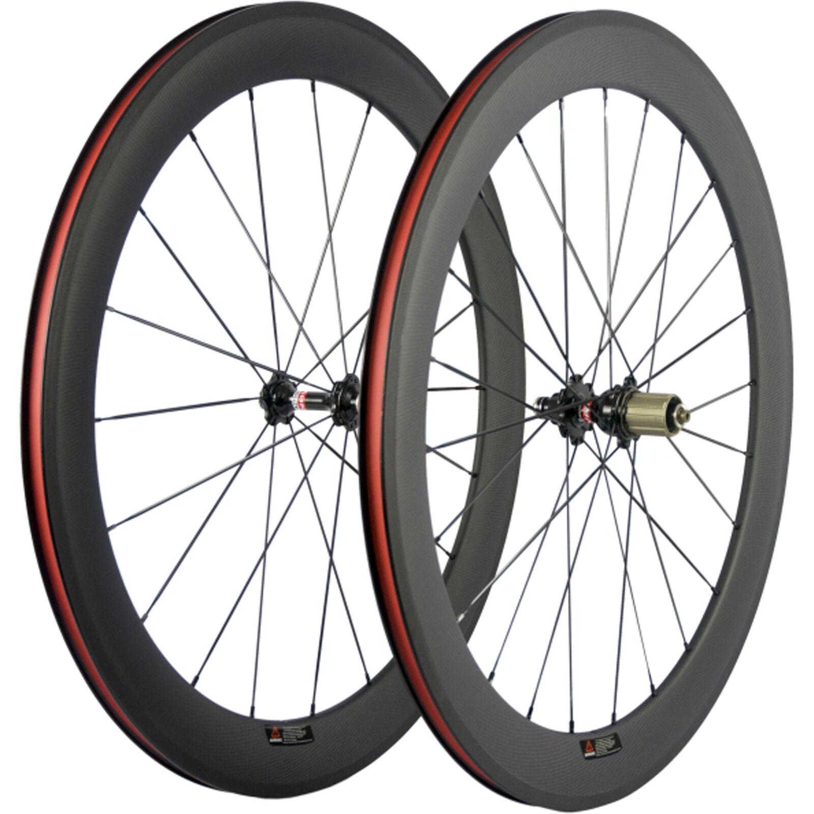Basalt Brake Surface Clincher Carbon Wheels 60mm Road Bicycle Carbon Wheelset