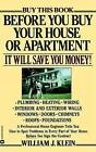 Before You Buy Your House or Apartment by Dr William Klein (Paperback / softback, 1987)