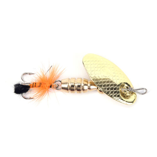 Fishing Lure Spoon Bait ideal for Bass Trout Perch pike rotating Fishing /_BB