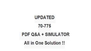 Best Exam Practice Material For 70-775 Exam Q/&A+SIM