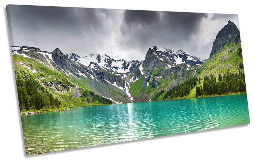 Mountain Lake Paisaje Enmarcado Impresión de lona panorámica Parojo Parojo Parojo Arte b1480d