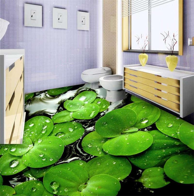 The Aquatic Plant 3D Floor Mural Photo Flooring Wallpaper Home Print Decoration