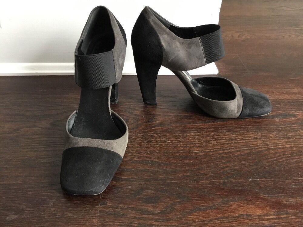Prada Farbeblock Suede 36 Pumps Schuhes Größe 36 Suede Runway 0c4b4d