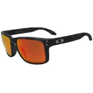 8f2af9668f2 Oakley OO 9102-E955 HOLBROOK Matte Black Camo Prizm Ruby Iridium ...