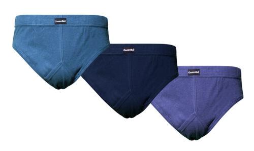 CARGO BAY 3 Pack Mens Y-Front Briefs Plain Cotton Underwear Everyday Comfortable