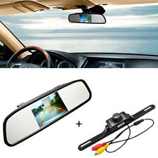 """4.3"""" LCD Mirror Monitor + Car Reverse Rear View Backup CMOS Camera Night Vision"""