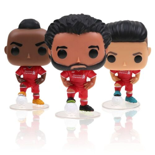 Pop Premier League Roberto Mane Salah Football Star Vinyl Figure Gift