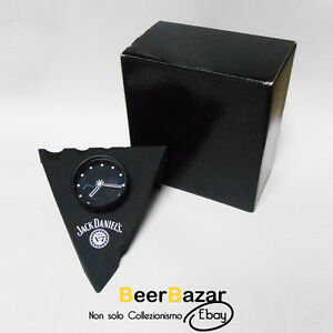 Orologio-da-tavolo-nero-Jack-Daniel-s-Old-n-7-Tennessee-triangolare-desing-box