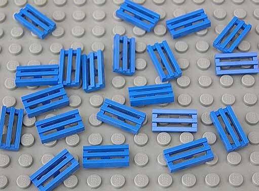 LEGO - 20 x Gitter - Fliese 1x2 blau / Gitterfliese / 2412b NEUWARE (e3)