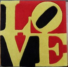 "Robert INDIANA : ""Love"" TAPIS D'ART EN LAINE SIGNE / N° CERTIFICAT AUTHENTICITE"