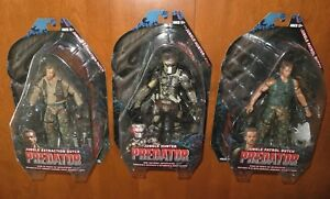 NECA Predator 25th Anniversary Series 8 Arnold Schwarzenegger Action Figure Set
