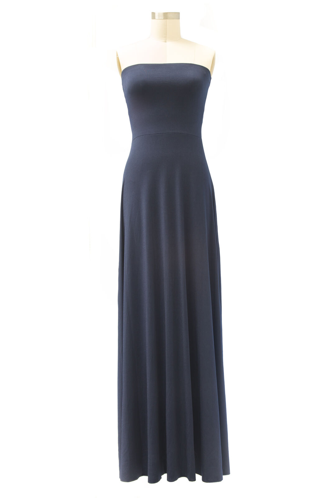 VON VONNI Women's Navy Cassandra Long Tube Maxi Dress NEW