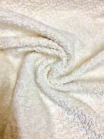 SUPER LUXURIOUS CREAM THICK CHENILLE UPHOLSTERY FABRIC 4 METRES