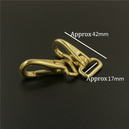 Solid Brass Halter Snap Hook Bag Clasp Pet Rope Strap Clip Leather accessory