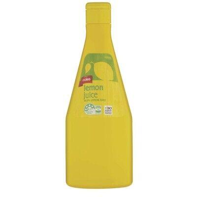 Coles Lemon Juice 500ml Ebay