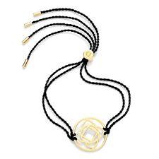 Daisy Jewellery NEW! Black Cord Gold Plated Base Chakra Adjustable Bracelet