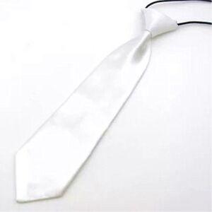 1 X Satin Elastic Neck Tie for Wedding Prom Boys Children School Kids Ties  vi