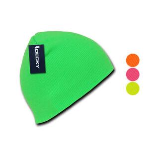 db808bda9e0 1 Dozen Bright Neon Short Beanies Caps Hats Knit Ski Skull Snowboard ...