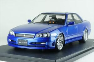 Ignition Model 1/18 NISSAN Skyline 25GT Turbo (ER34) bleu métallisé IG1577 EMS