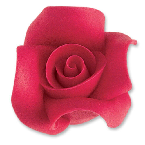 rot53mmEssbarTortendekoHochzeit 12 Marzipan Rosen groß