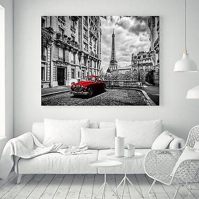 Art Eiffel Tower Vintage Silk Canvas Poster Black White Paint Decor Unframed A26