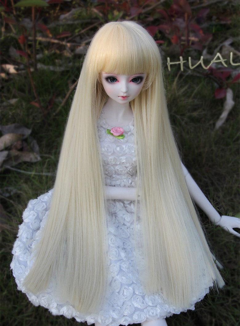 "7-8/"" 1//4 BJD Medium Black Curly Wig LUTS Doll SD MSD Dollfie Iplehouse Soom Hair"