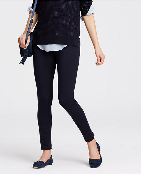 Ann Taylor - Petite bluee Tailored Ponte Leggings  NWT (D55)