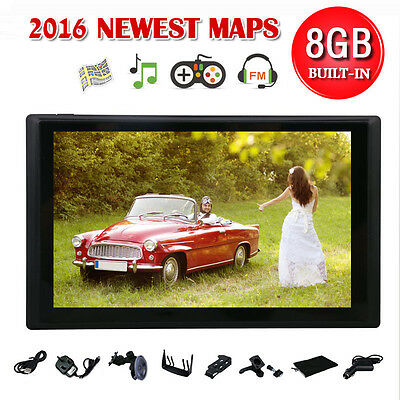 """TOM 7"""" 8GB Car GPS Sat Nav Navigation System TOM FM Speedcam POI Free UK+EU Maps"""