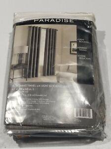 "Paradise 63"" Room Darkening Grommet Top Window Curtain Panel - Pepper - GallyHo"