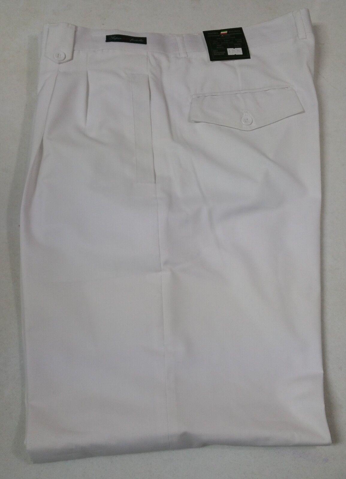 New Daniel Ellissa Men's White Wide Leg Dress Pants Style DPR 107
