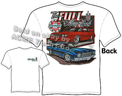 1971 Rose Wood Chevy Monte Carlo Custom Hot Rod USAT T-Shirt 71 Muscle Car Tees