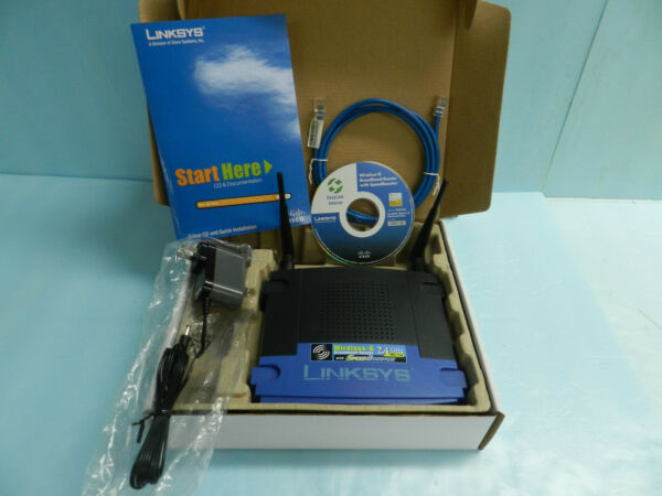 *mint* Linksys Wrt54gs 54 Mbps 4-port 10/100 Wireless G Router (wrt54gs V7)